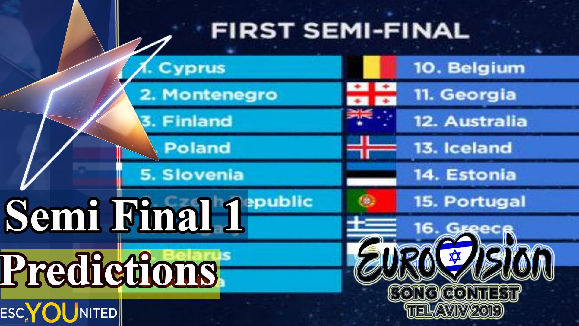 ESC United Semi Final 1 predictions: Australia & Greece to
